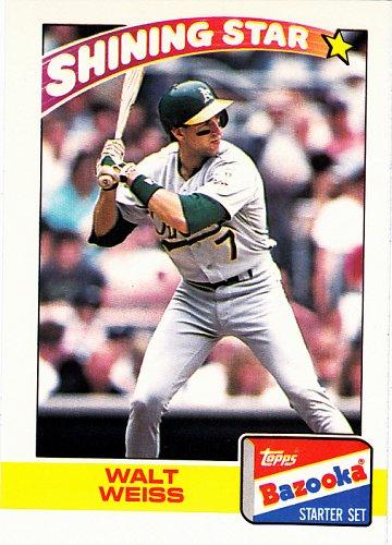 Walt Weiss #22 - Athletics 1989 Topps Bazooka Baseball Trading Card