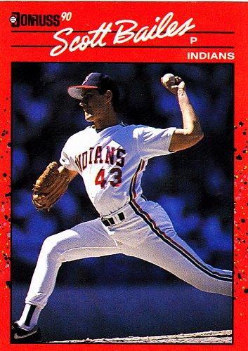 Scott Bailes #468 - Indians 1990 Donruss Baseball Trading Card