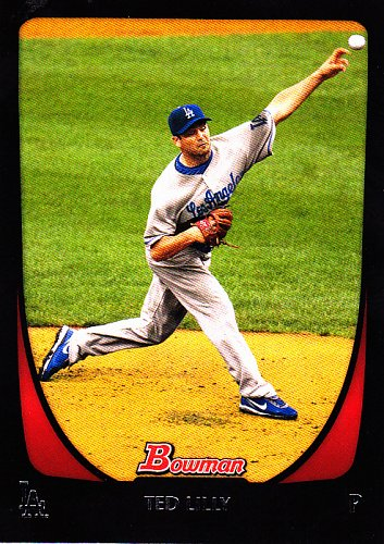 Ted Lilly #8 - Dodgers 2011 Bowman Baseball Trading Card