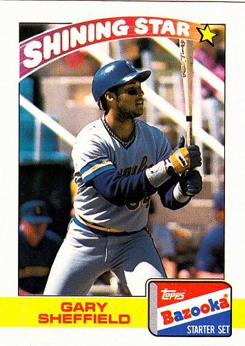 Gary Sheffield #19 - Brewers 1989 Topps Bazooka Baseball Trading Card