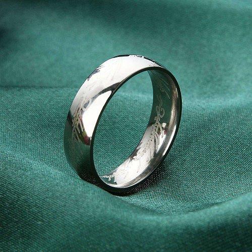 fashion men ring silver sainless steel ring