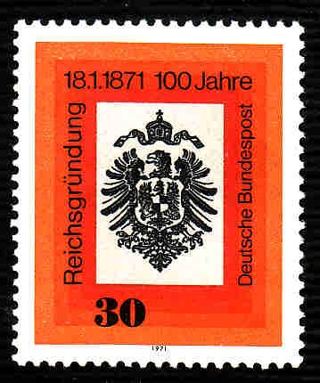 German Hinged Scott #1052 Catalog Value $1.35