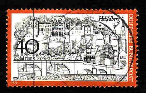 German Used Scott #1069A Catalog Value $.25