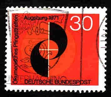 German Used Scott #1071 Catalog Value $.30