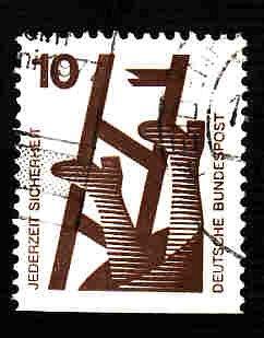 German Used Scott #1075 Catalog Value $.25