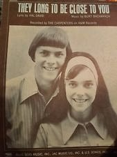 Carpenters Close To You 1970 Piano PS Sheet Music