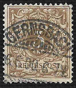 German Used Scott #46 Catalog Value $1.40