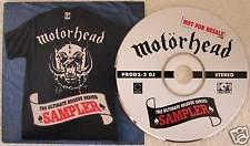 Lemmy & Motorhead Ultimate Reissue Sampler New 1996 Promo CD