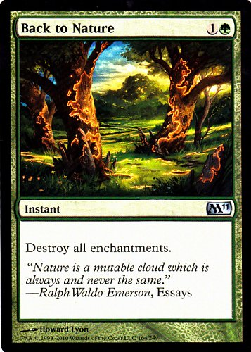Back to Nature - Green - Instant - Magic the Gathering Trading Card