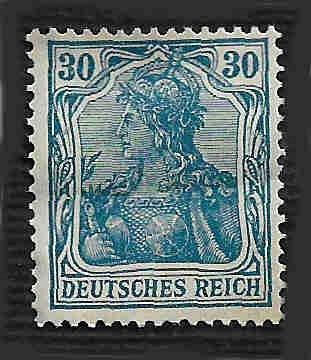 German Hinged Scott #123 Catalog Value $2.40