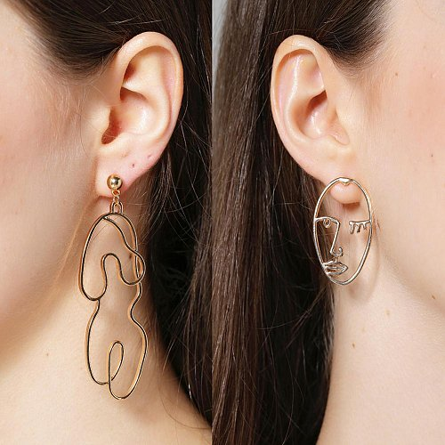 Women funny body earring