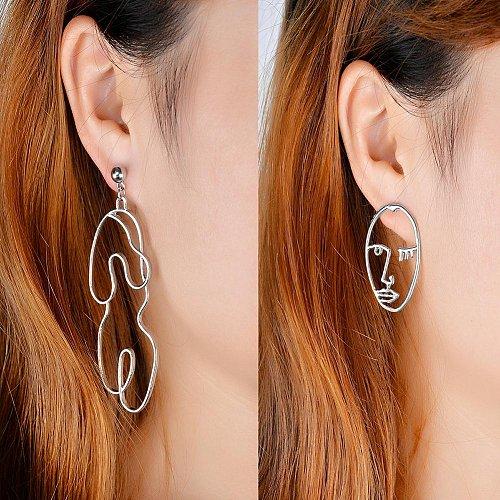 Women funny silver plated body earring