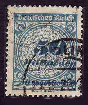 German Used Scott #299 Catalog Value $35.00