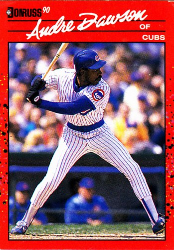 Andre Dawson #223 - Cubs 1990 Donruss Baseball Trading Card