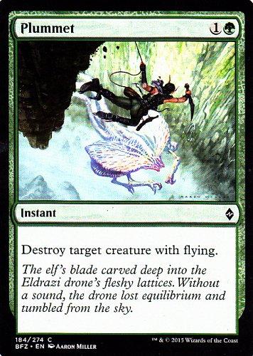 Plummet - Green - Instant - Magic the Gathering Trading Card