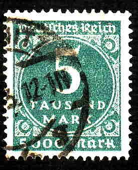 German Used Scott #238A Catalog Value $16.50