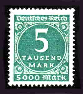 German MNH Scott #238A Catalog Value $.38