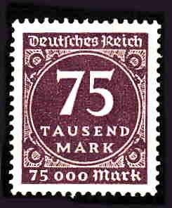 German MNH Scott #240 Catalog Value $.38