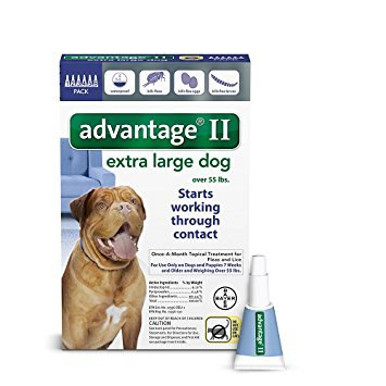 Advantage II for Extra Large Dogs Over 55 lbs, 6 Month Supply