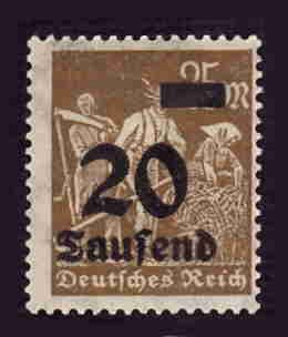 German MNH Scott #245 Catalog Value $.40