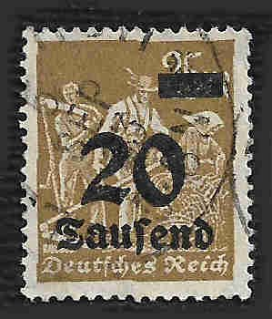 German Used Scott #247 Catalog Value $14.50