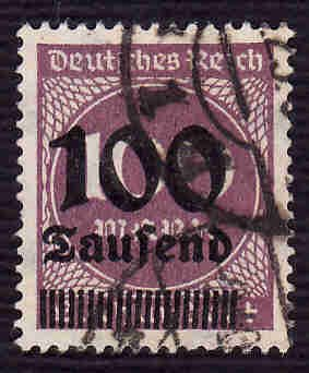 German Used Scott #253 Catalog Value $2.25