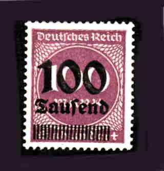 German MNH Scott #253 Catalog Value $.40