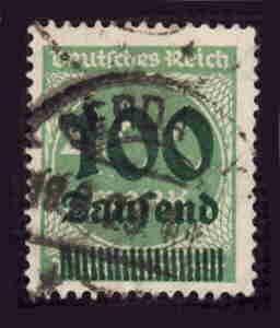 German Used Scott #254 Catalog Value $1.50