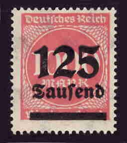 German MNH Scott #255 Catalog Value $.38