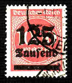 German Used Scott #255 Catalog Value $1.90