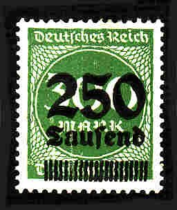German Hinged Scott #257 Catalog Value $.25