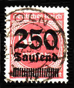 German Used Scott #259 Catalog Value $1.50