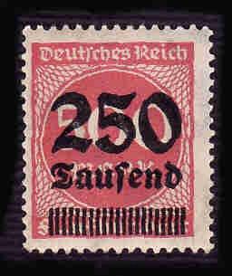 German MNH Scott #259 Catalog Value $.38