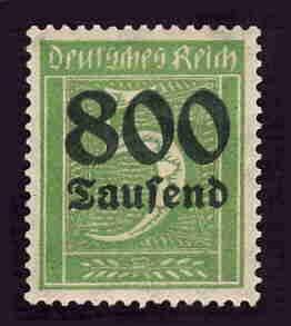 German MNH Scott #261 Catalog Value $.38
