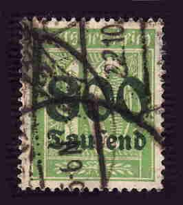 German Used Scott #262 Catalog Value $5.00