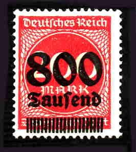German Hinged Scott #263 Catalog Value $.25