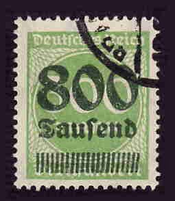 German Used Scott #264 Catalog Value $5.00