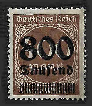 German MNH Scott #265 Catalog Value $.38