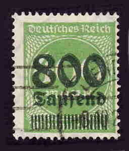 German Used Scott #266 Catalog Value $3.75