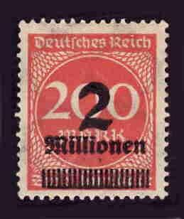 German MNH Scott #269 Catalog Value $.38