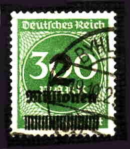 German Used Scott #270 Catalog Value $2.25