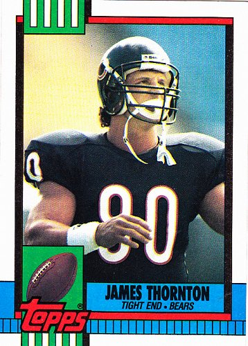 James Thornton #374 - Bears 1990 Topps Football Trading Card