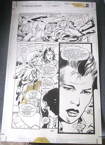 Original Comic Art SUPERMAN ANNUAL Issue 8 Page 26 Tom Grindberg 1996 DC Comics