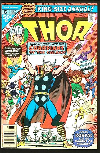 THOR King Size ANNUAL 6 GUARDIANS OF THE GALAXY Marvel Comics 1977