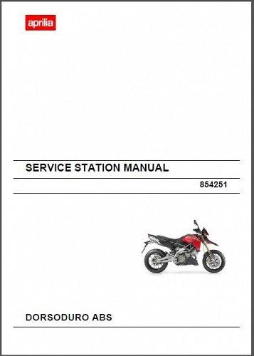 2011-2014 Aprilia Dorsoduro ABS 750 Service & Parts Manual on a CD