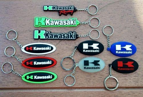 KAWASAKI LOGO KEYCHAIN KEY RING RUBBER MOTORCYCLE BIKE GIFT FREE SHIPPING
