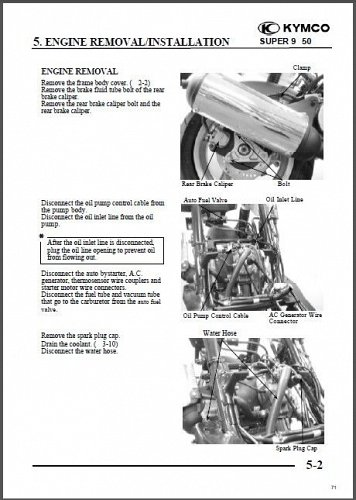 2003-2009 Kymco Super 9 50 Scooter Service & Parts Manual on a CD