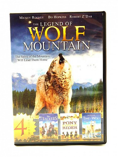 4movie DVD Legend of Wolf Moutain,The Trackers,Pony Express Rider,Time of the...