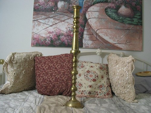 BRASS CANDLE HOLDER 28 in Tall Large Candlestick Used