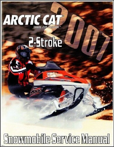 2007 Arctic Cat 2-Stroke Snowmobile Service Repair Manual CD - Crossfire F5 F6